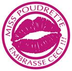 Logo Miss Poudrette Embrasse Ceci!